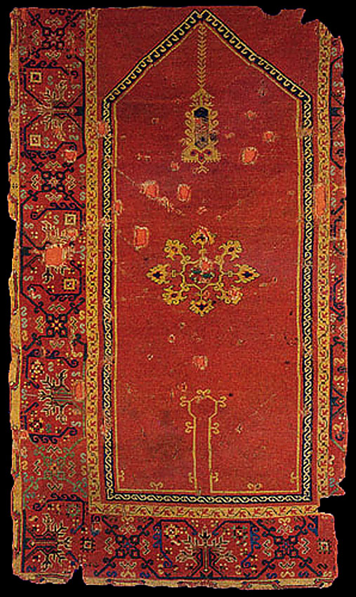 Bellini Keyhole Carpet 16th Century Turkey Western