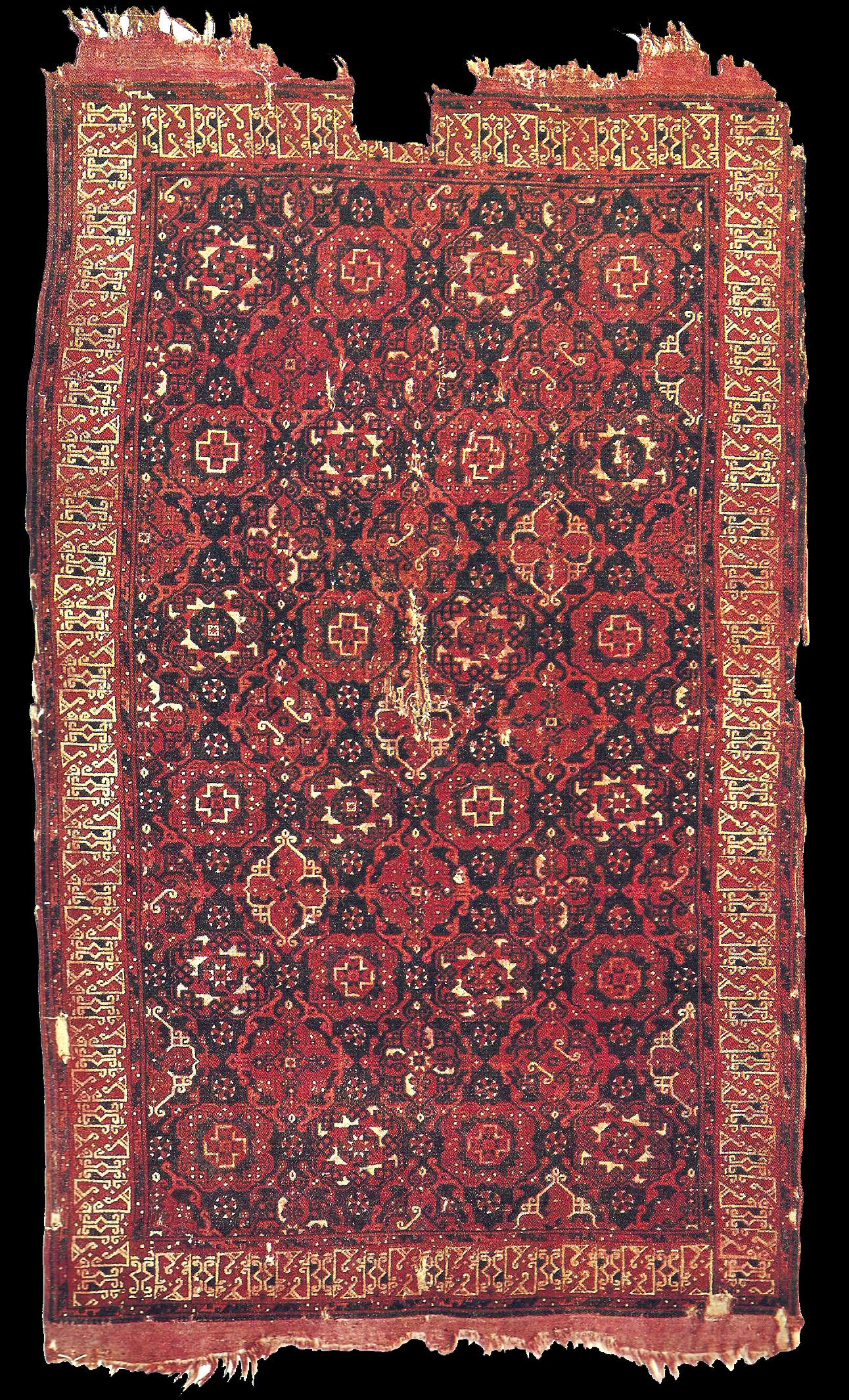 Holbein carpet, early 16th century. Ottoman Empire. city ...