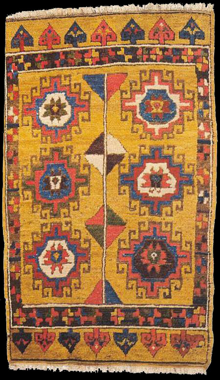 Central Anatolian Rug With Memling Gul Medallions