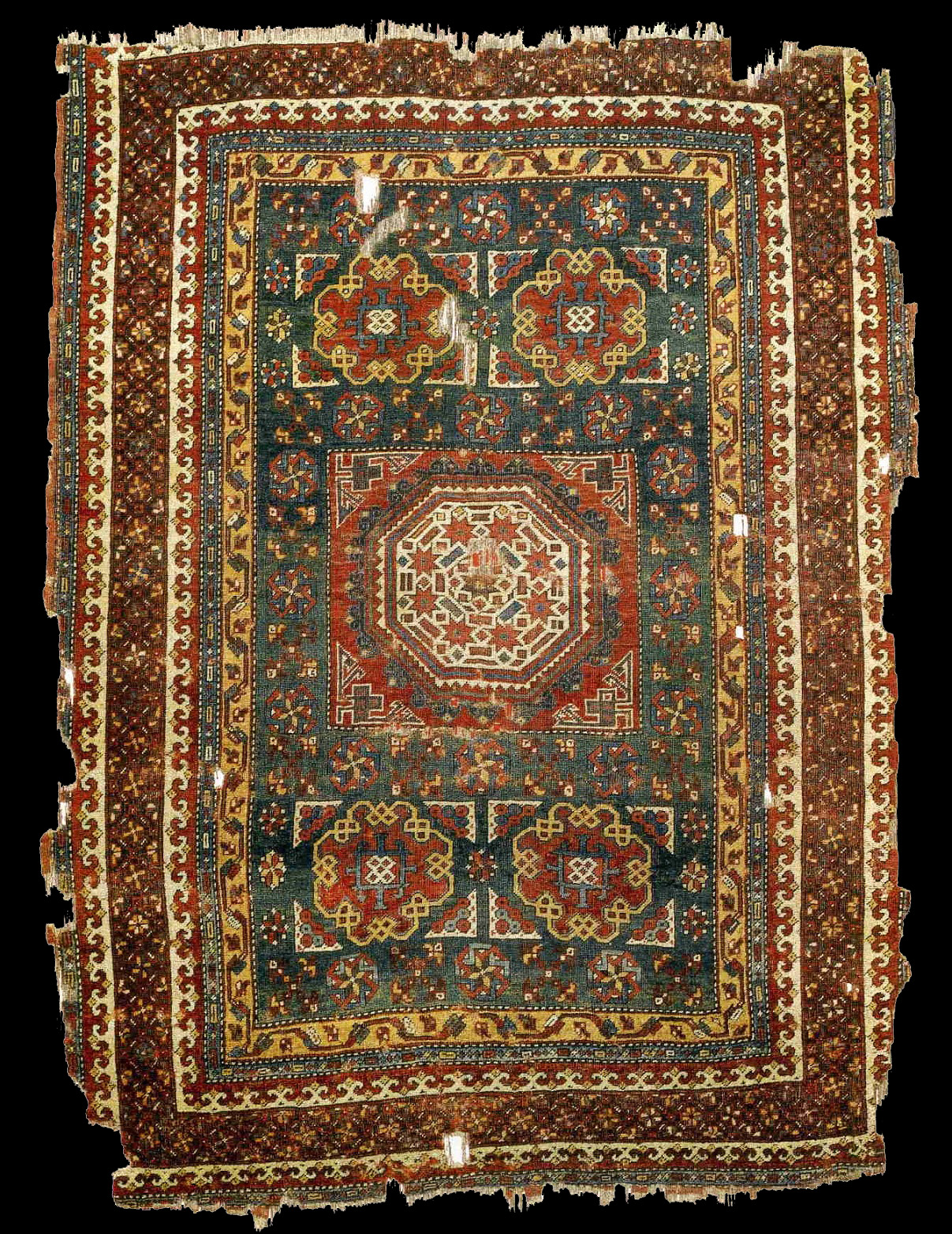 A Turkish Rug With The Large Quot Holbein Quot Pattern 16th