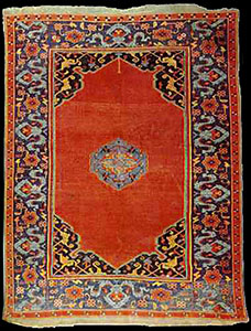 Small Medallion Ushak Carpets