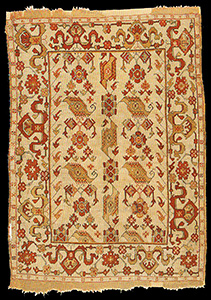 Ushak U0027birdu0027 Rug, West Anatolia, 17th Century. 134 X 175cm. Black Church,  Braşov, No.146