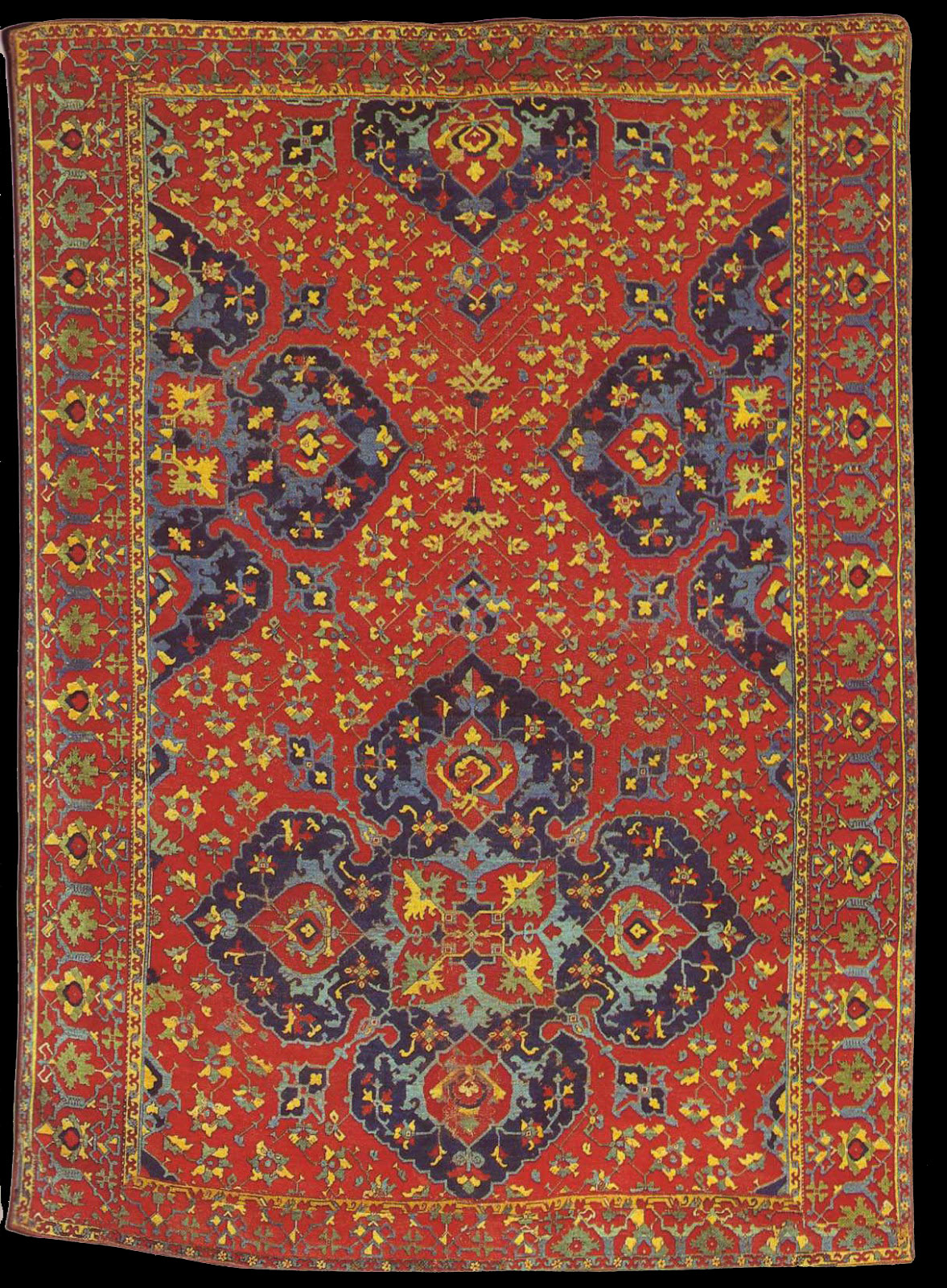 Medallion Rug Variant Star Ushak Style Ottoman Period