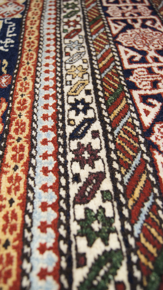 Perepedil Kuba Rug In A Blue Ground