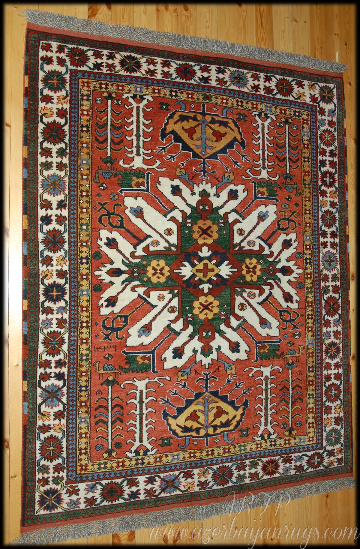 Sunburst Karabagh So Called Adler Kazak Rug