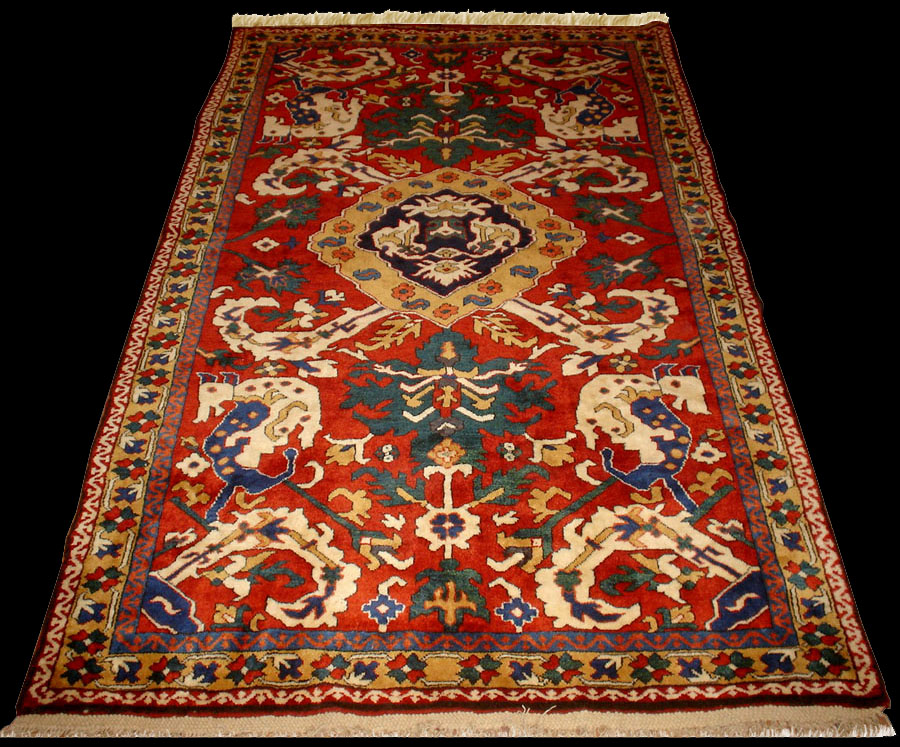 Historical Karabagh Animal Combat Rug Khatai Design