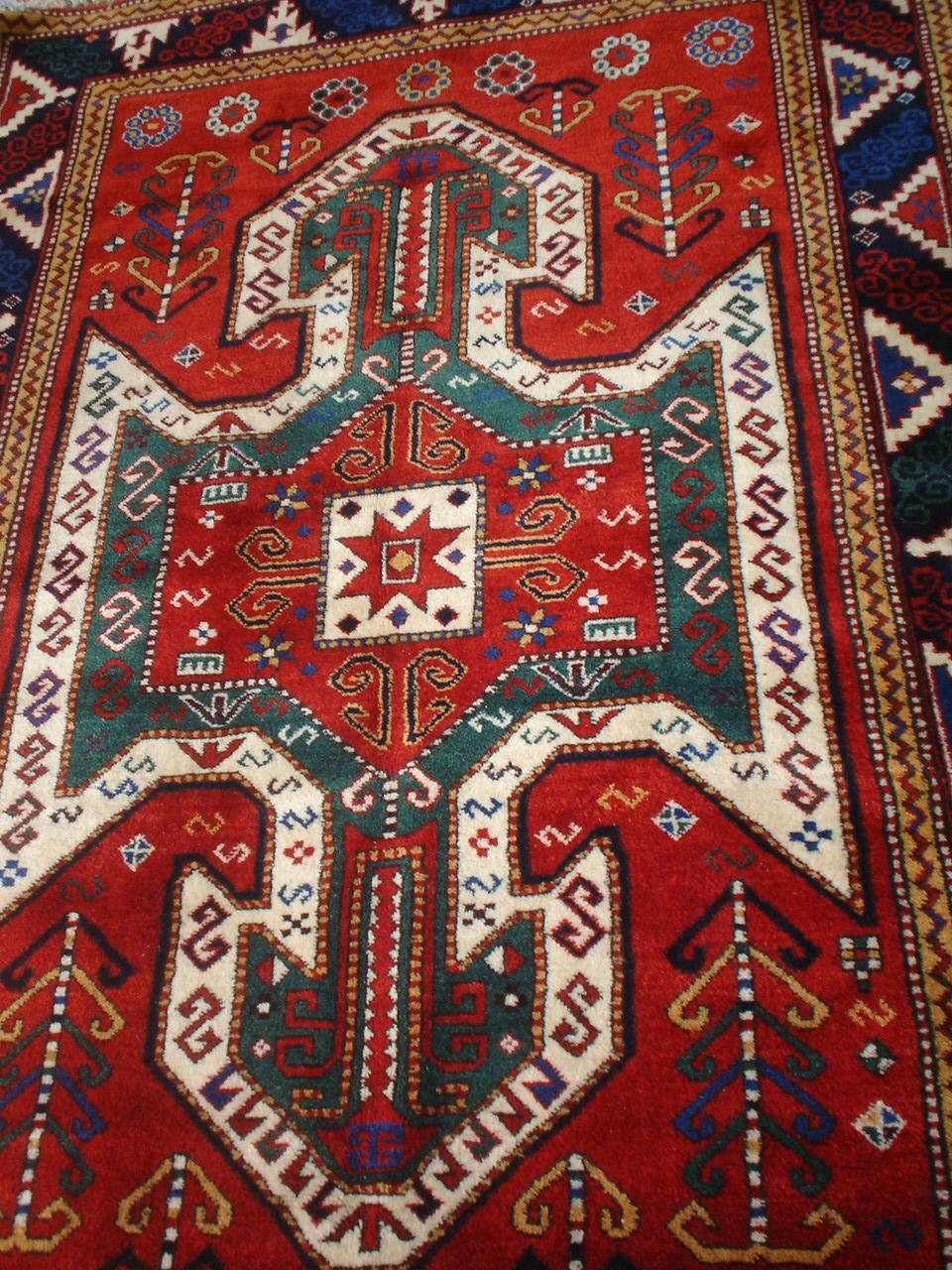 Sevan Kazak Rug Caucasian Kazak Sevan Rug Madder Red