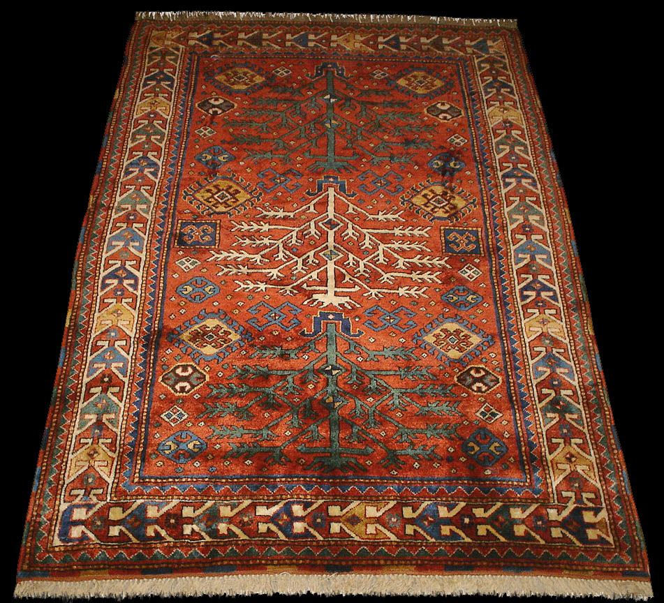 A Tree Of Life Rug, Kazak Borchalo Life Tree Rug, Antique Rugs Of The  Future Project, Azerbaijan