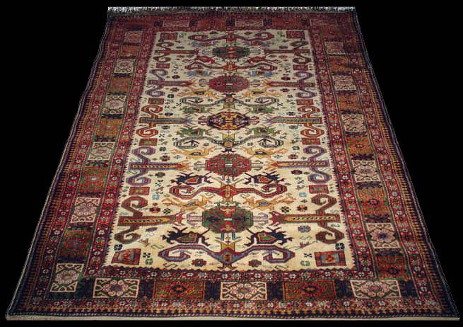 Caucasian rugs, Kuba Perepedil rug, Azerbaijan