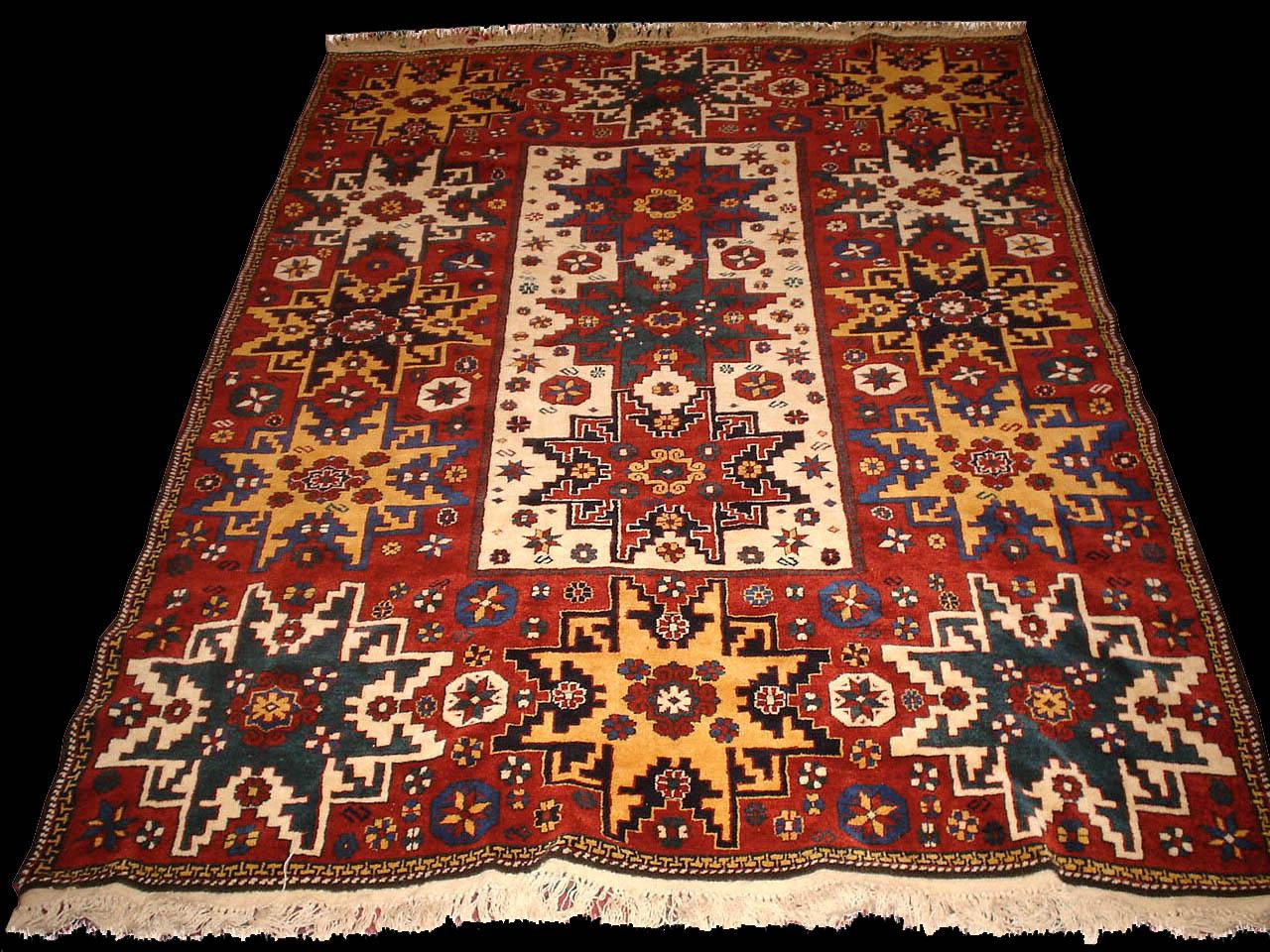 Tappeto Lesghi Caucasico;Caucasian Kuba Lesghi Star rugs ...