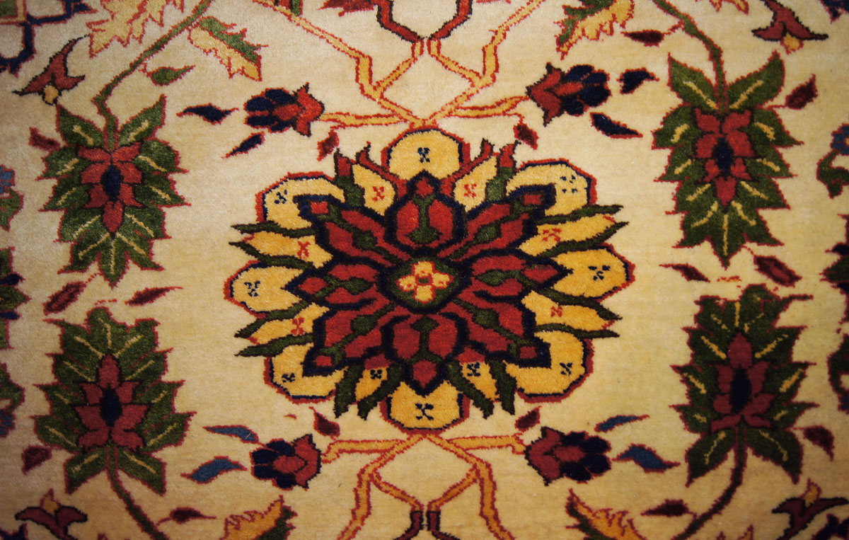 A Serapi Overall Floral Rug In An Ivory Ground