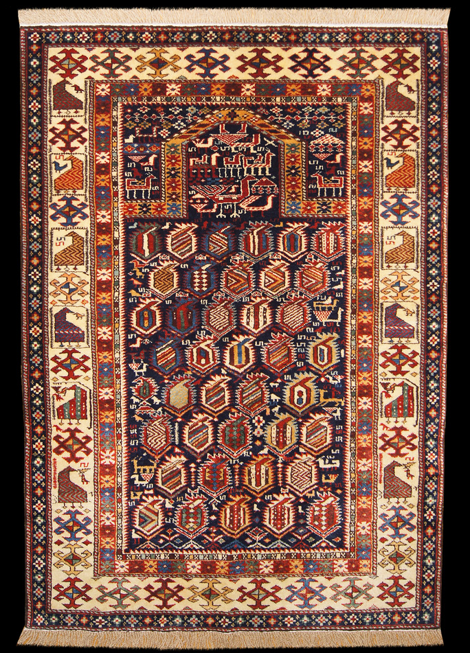 Shirvan Prayer Rug With Boteh Motif