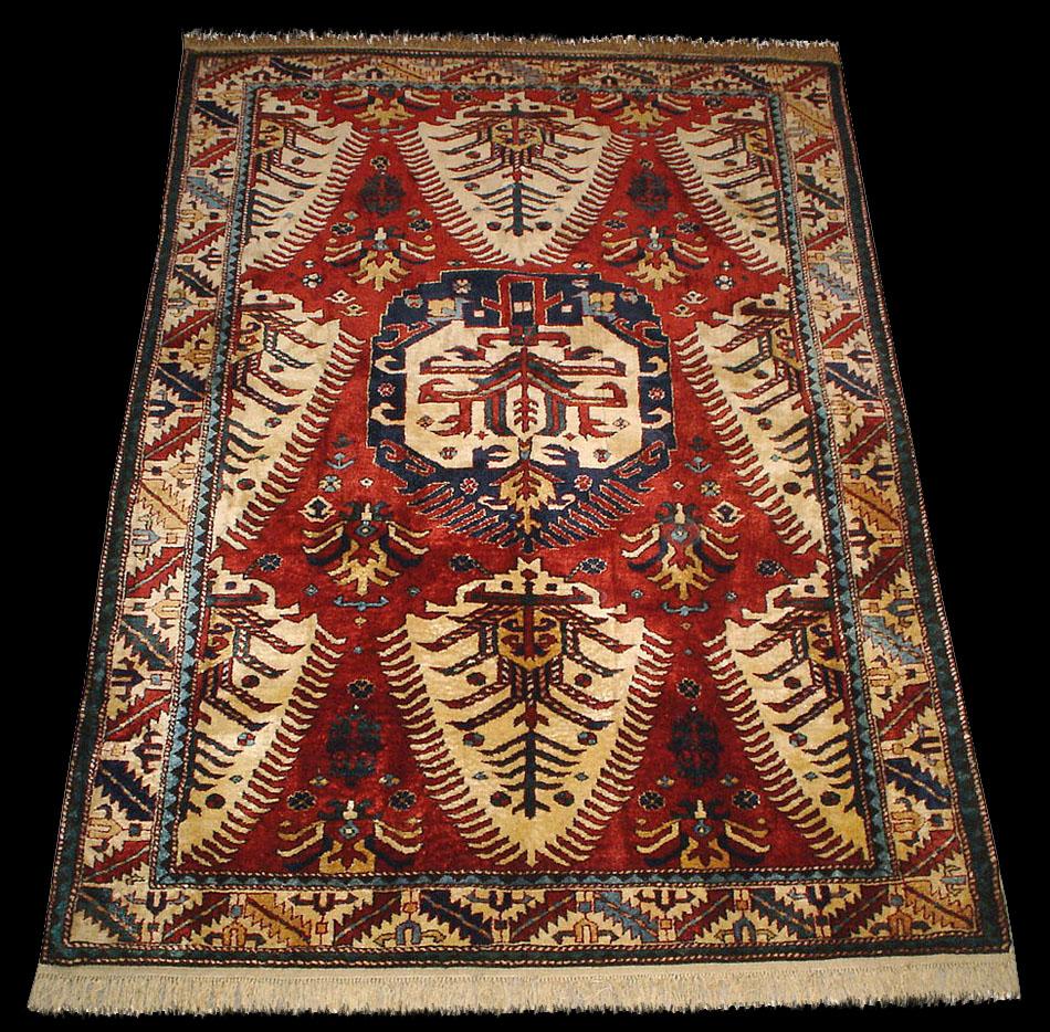 A Dragon Rug, Caucasian Shirvan Dragon Rug, Antique Rugs