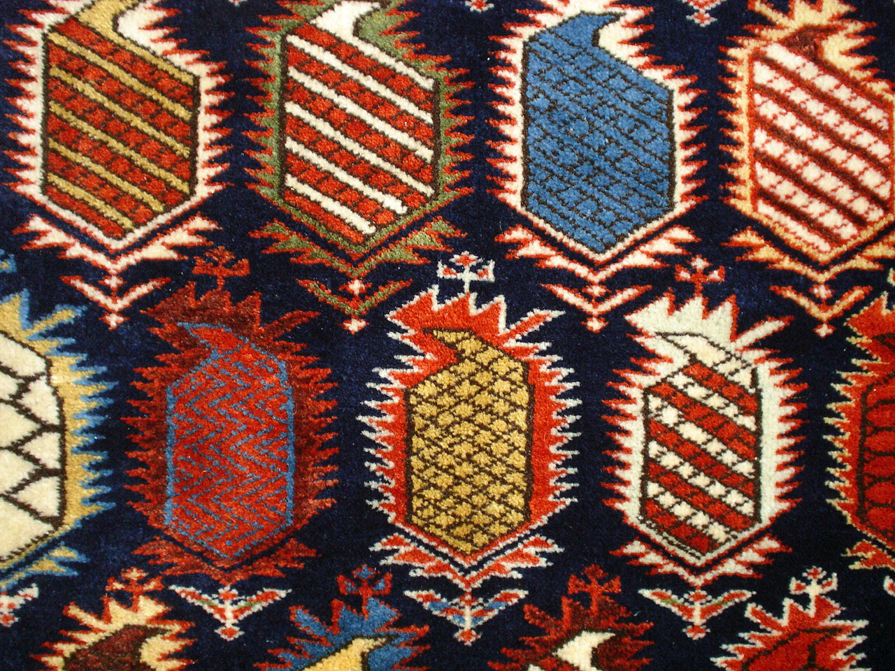 A Caucasian Marasali Prayer Rug With Inscriptions Azerbaijan