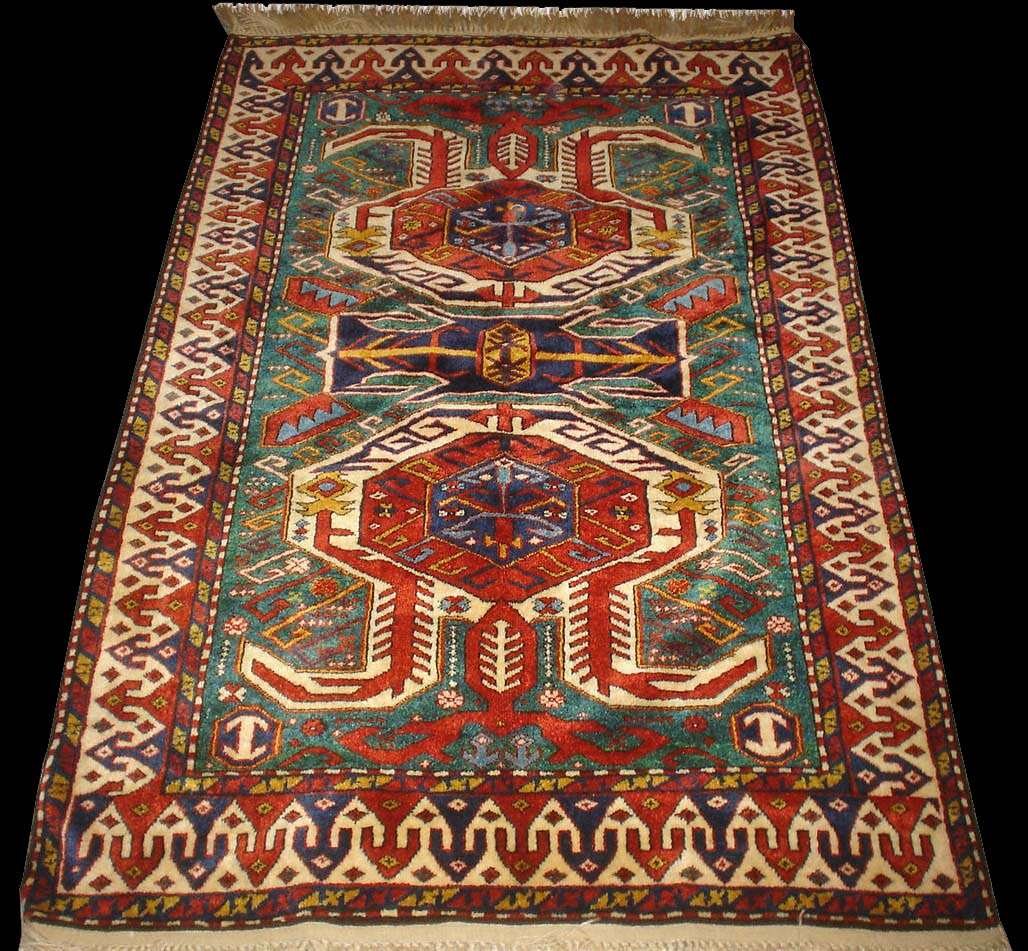 Talish Rug With Turtle Motif Caucasian Talish Rugs