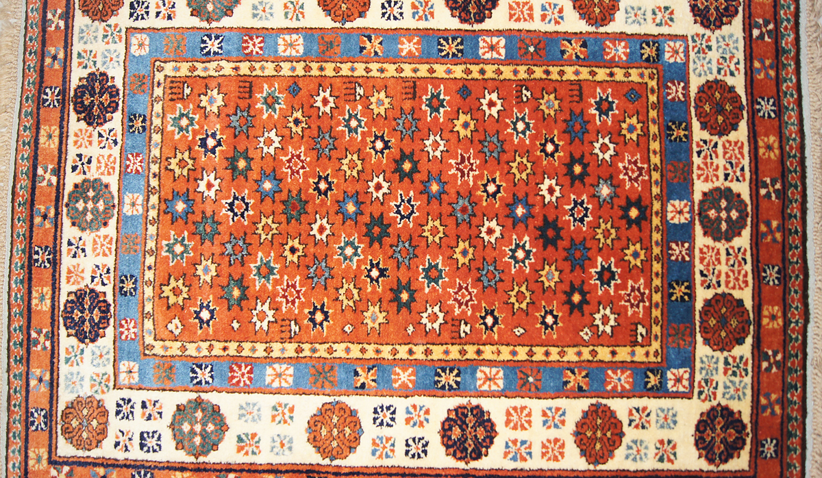 Talish Rug The Madder Red Field With Polychrome Star Pattern