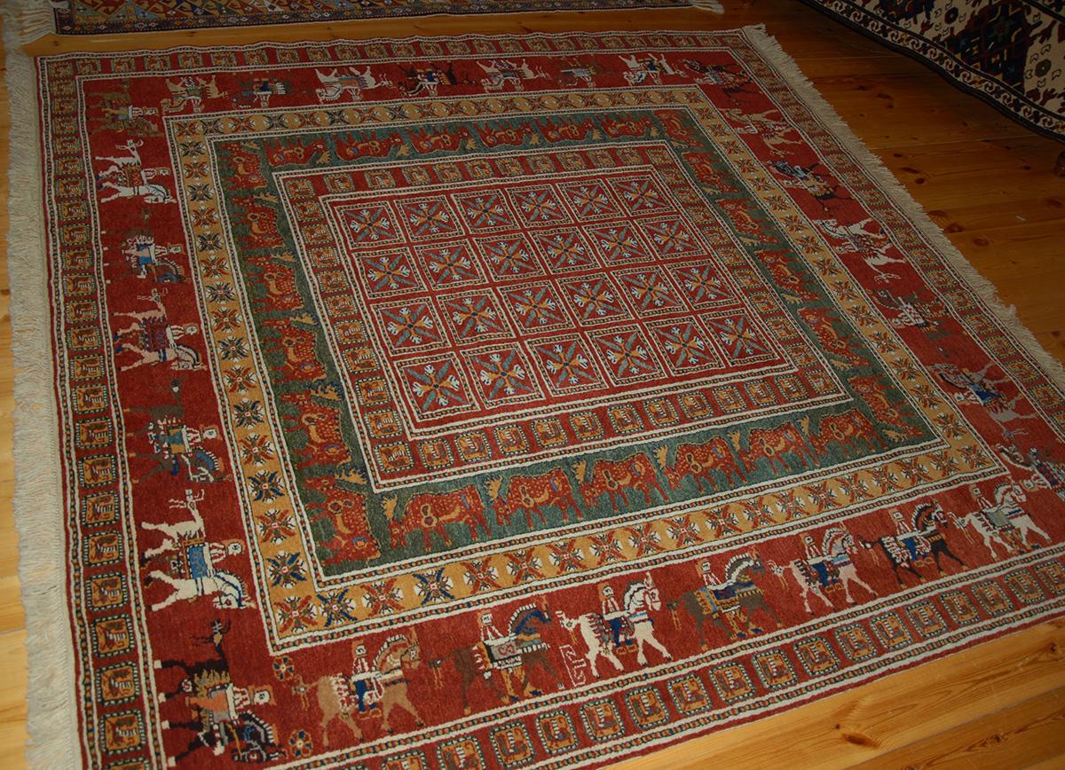 Pazyryk Carpet Based On The Famous Pazyryk Rug The