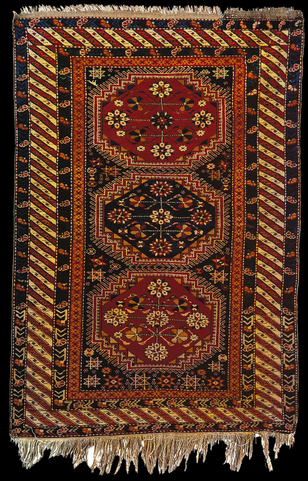 Antique Surakhani Baku Rug Eastern Azerbaijan Early 20th