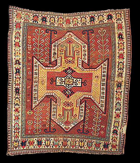 Antique Kazak Sevan Carpet