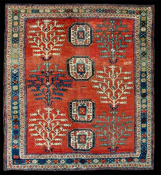 "AH 1324 (1906 AD) Dated Kazak ""Tree Of Life"" Rug"