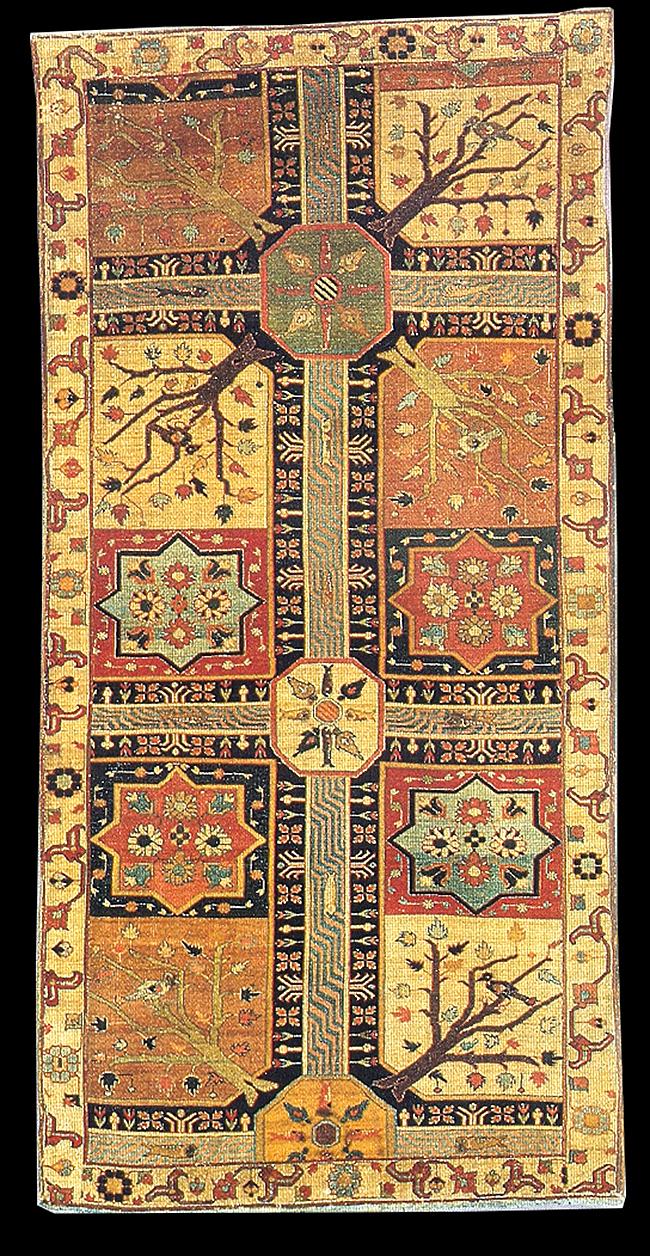 Early Azerbaijan Garden Chahar Bagh Carpet Nw Iran