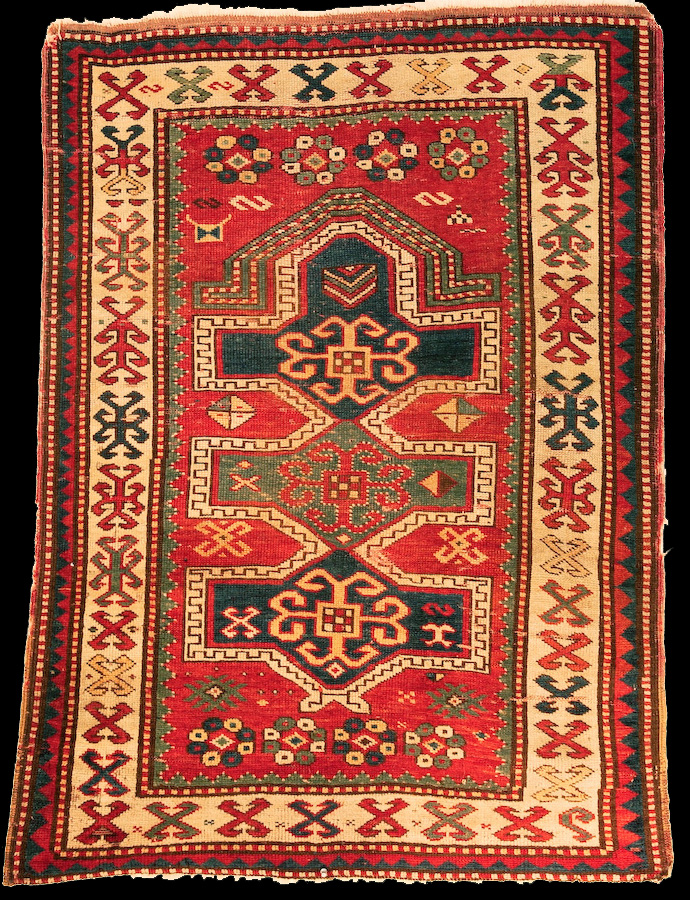 Click To Enlarge Antique Kazak Prayer Rug