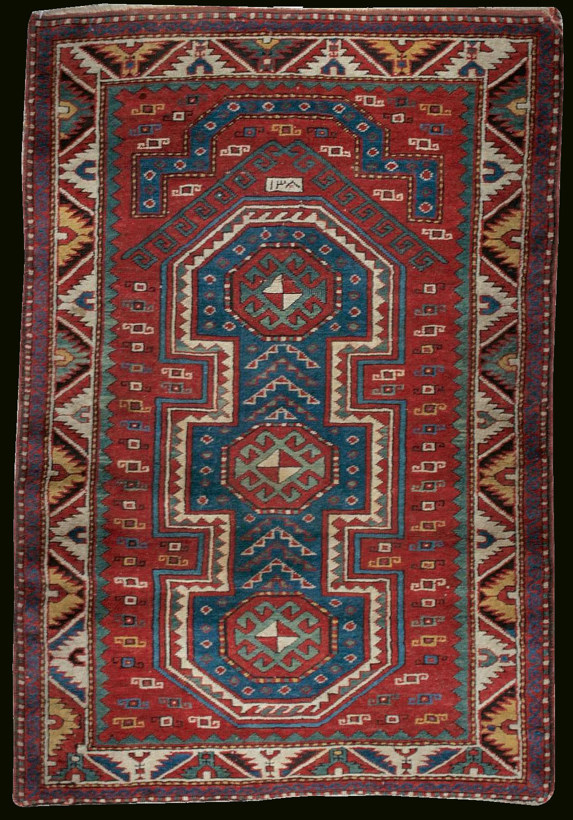 Ah 1308 1890 Ad Dated Antique Quot Shield Quot Kazak Namazlig Rug