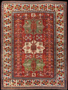 A Rare Antique Caucasian Kazak Rug C 1870 Nw Azerbaijan 177x220cm Schuler Auktionen