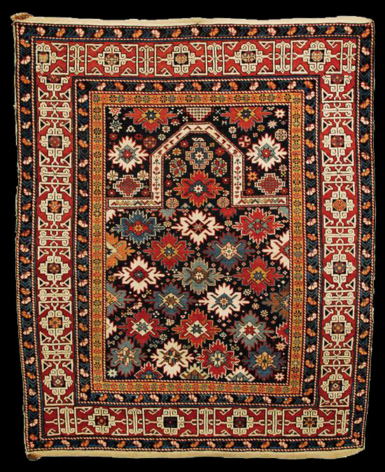 Prayer Rug Company: Antique Kuba Prayer Rug, Caucasus, Late 19th Century