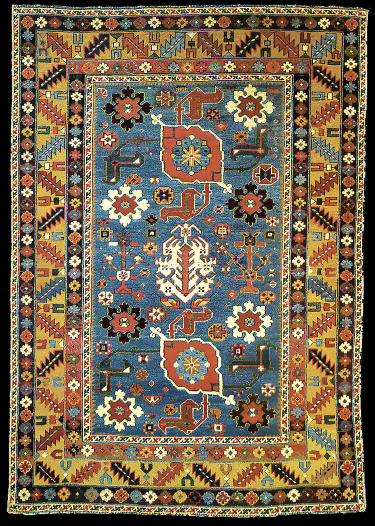 A Fine Antique Kuba Karagashli Rug Early 19th Century