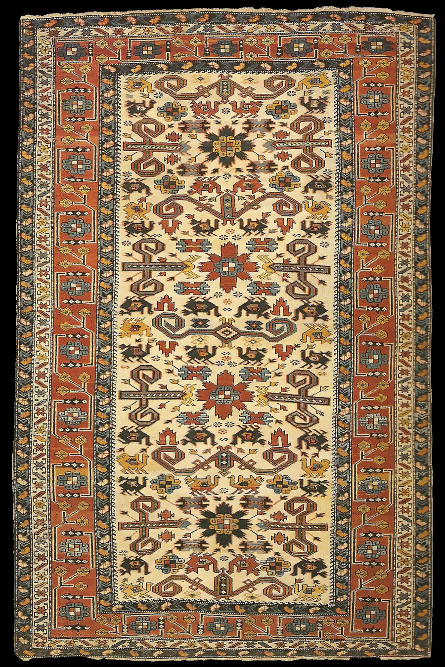 Alberto Boralevis Antique Kuba Perepedil (Pirabadil) Carpet