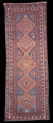 Antique Caucasian Kuba Shirvan Medallion Rugs Medallion