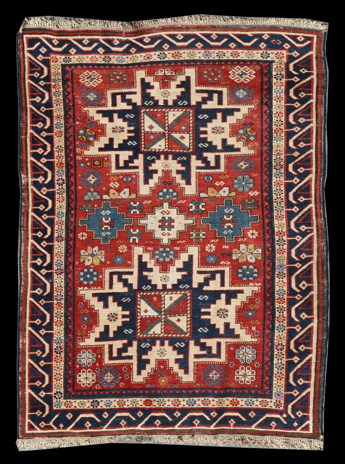 Antique Kuba Carpet Late 19th Century Early 20th