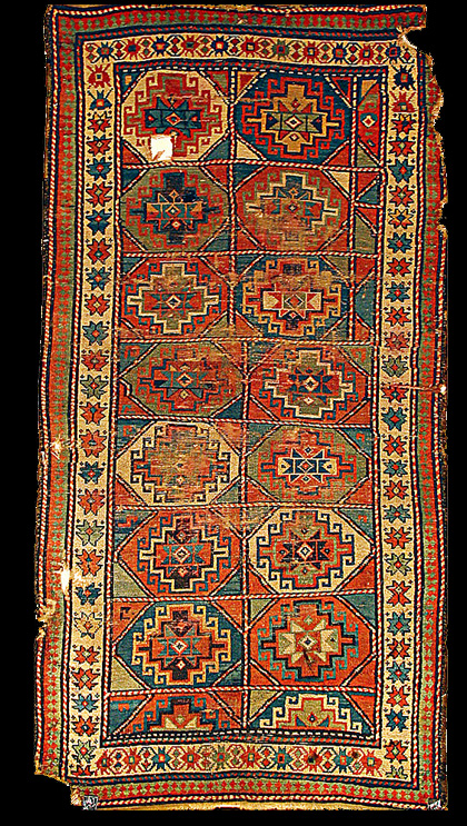 Antique Moghan Carpet Late 19th Century