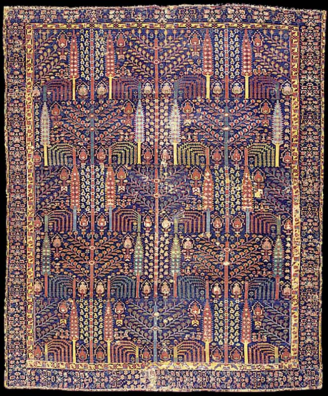 Early Azerbaijan Rug With A Bid Majnun Design Nw Iran