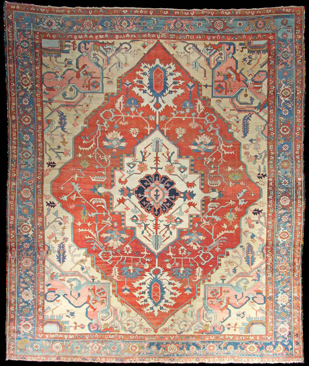 Antique Serapi Rug Azerbaijan Nw Iran Circa 1880