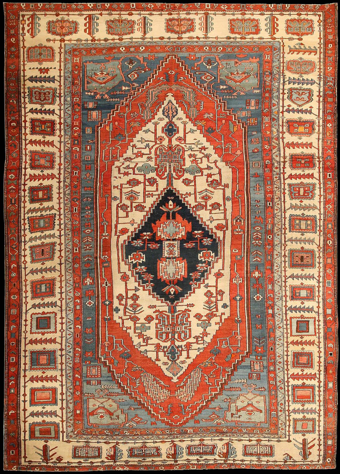 Antique Serapi Rug Azerbaijan Nw Iran