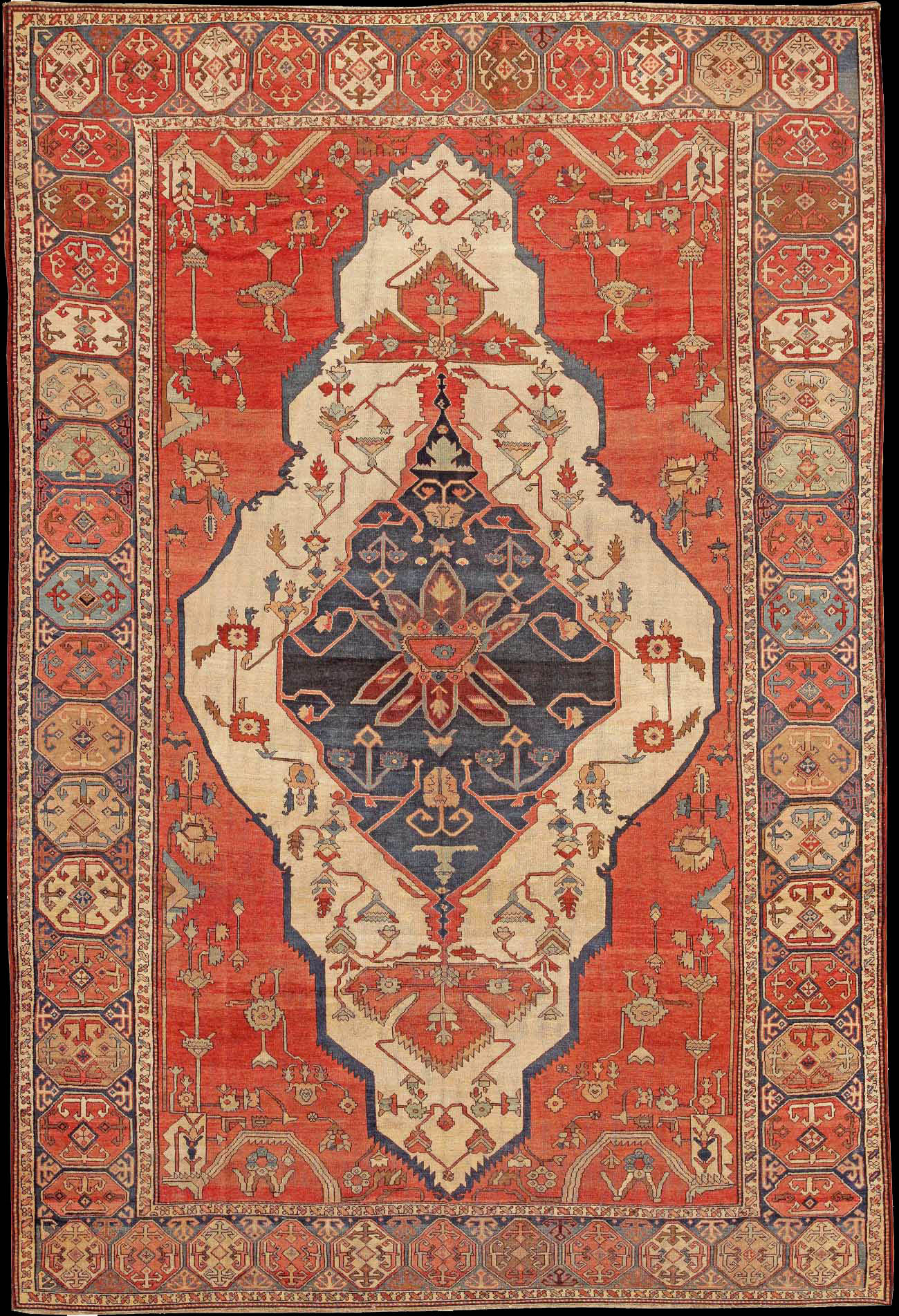 An Illustrational Guide To Antique Serapi Rugs And Carpets