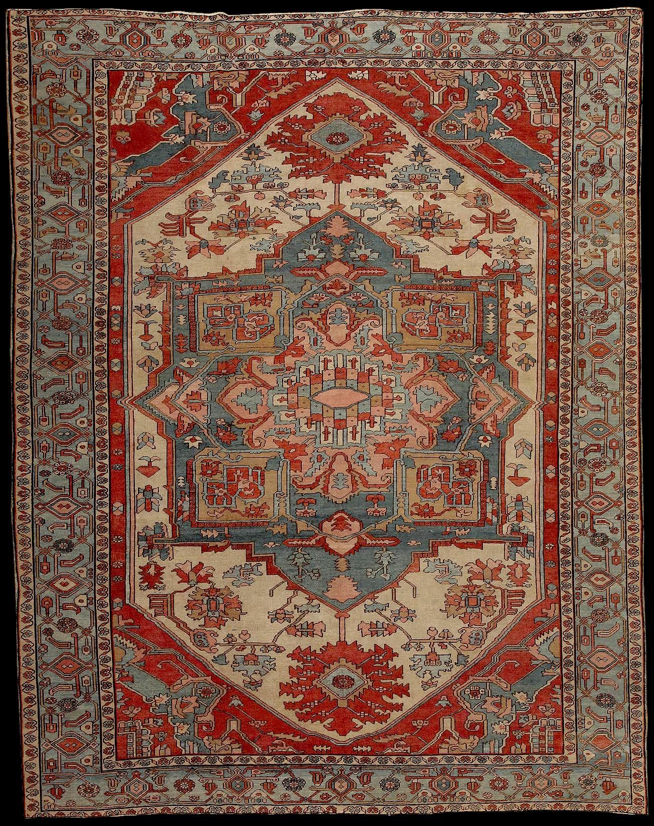 Azerbaijan Rugs Carpets Antique Serapi Rug