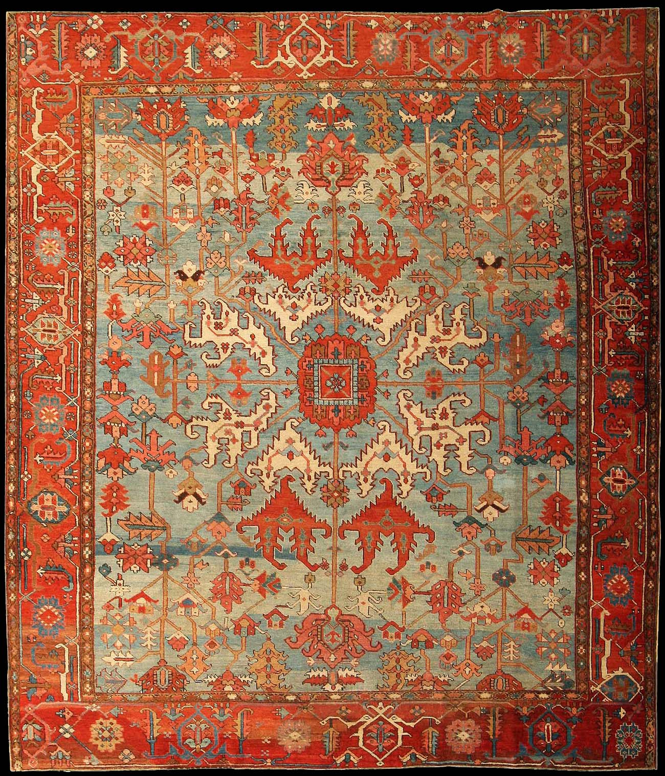 Antique Serapi Rug Azerbaijan Nw Iran Late 19th Century 10 X 11 6