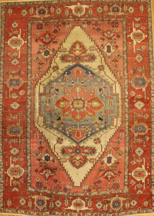 Antique Serapi Rug Azerbaijan Nw Iran Early 20th Century