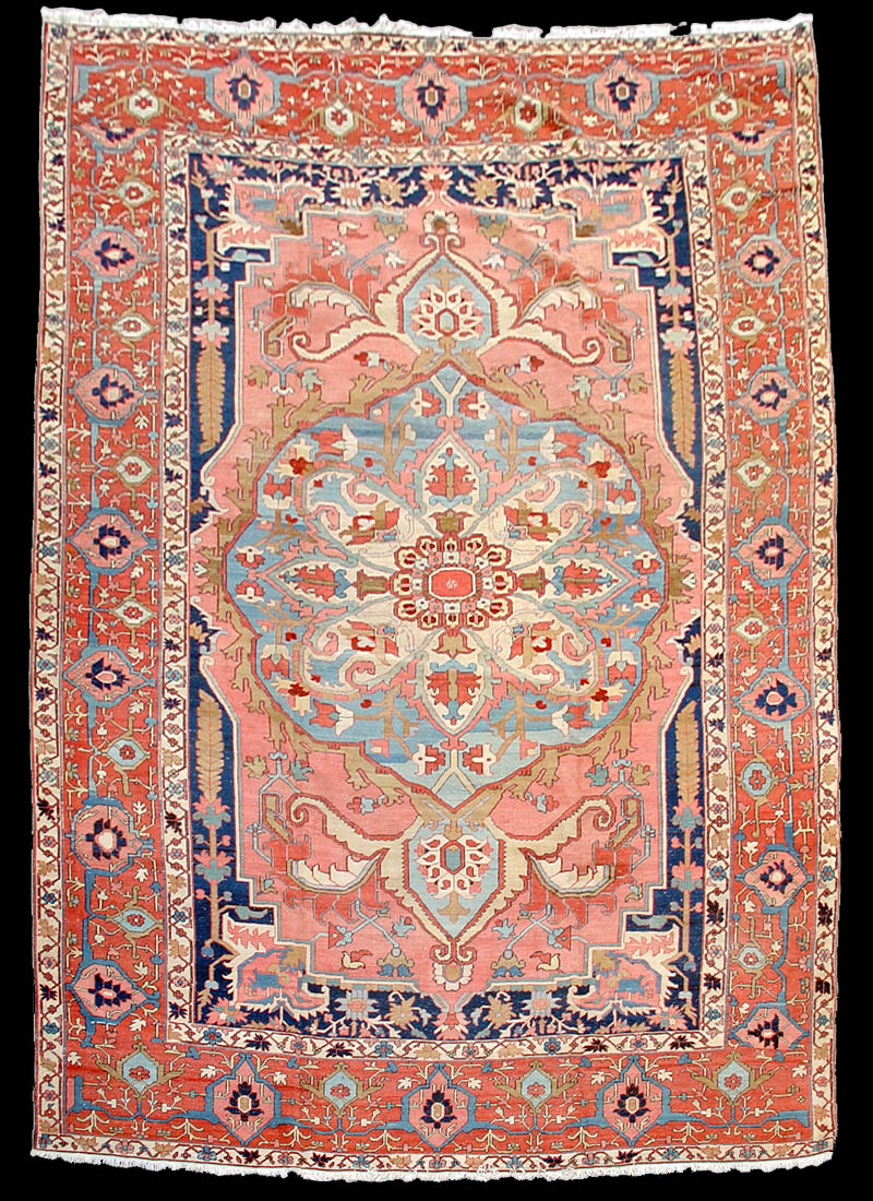 A Very Elegant And Softly Colored Serapi Carpet