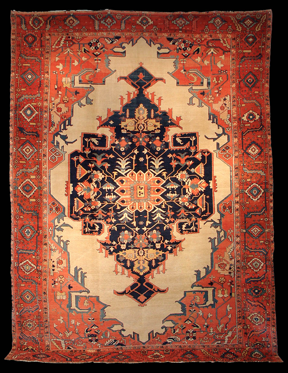 A Rare Antique Serapi Rug Azerbaijan Late 19th Century