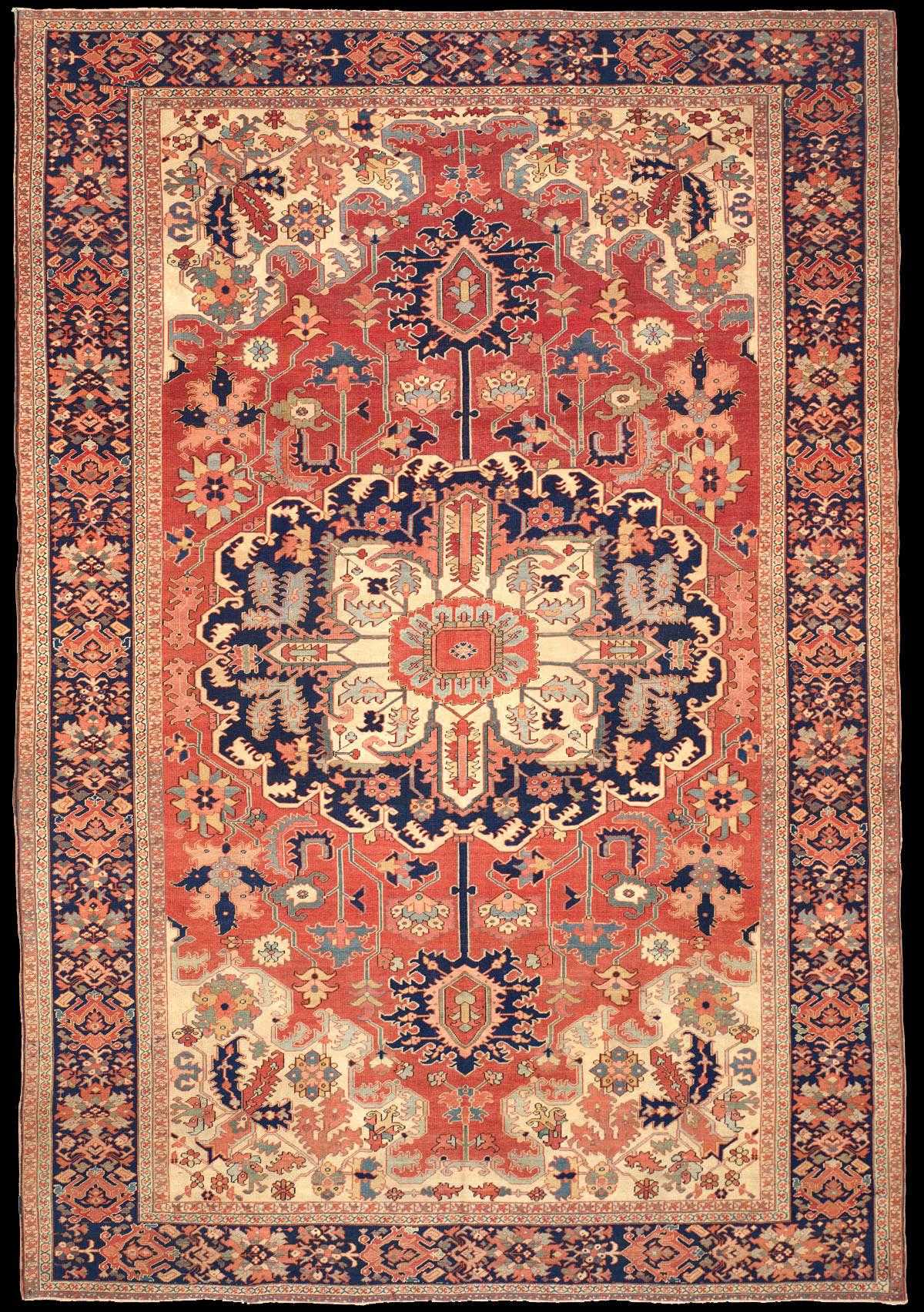 Antique Serapi Rug Azerbaijan Nw Iran 9 39 8 X 14 39 7
