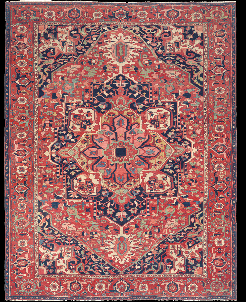 Antique Serapi Rug Azerbaijan Nw Iran 19th Century 10