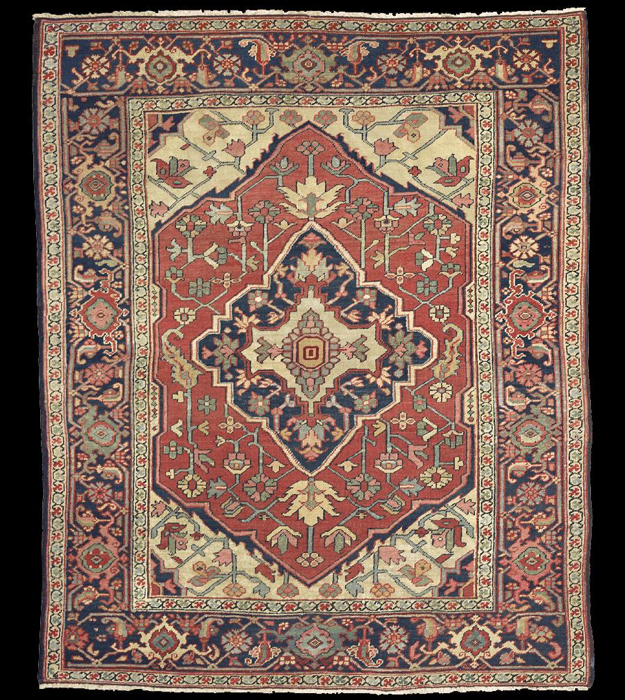 Antique Serapi Rug Azerbaijan Nw Iran 19th Century 5