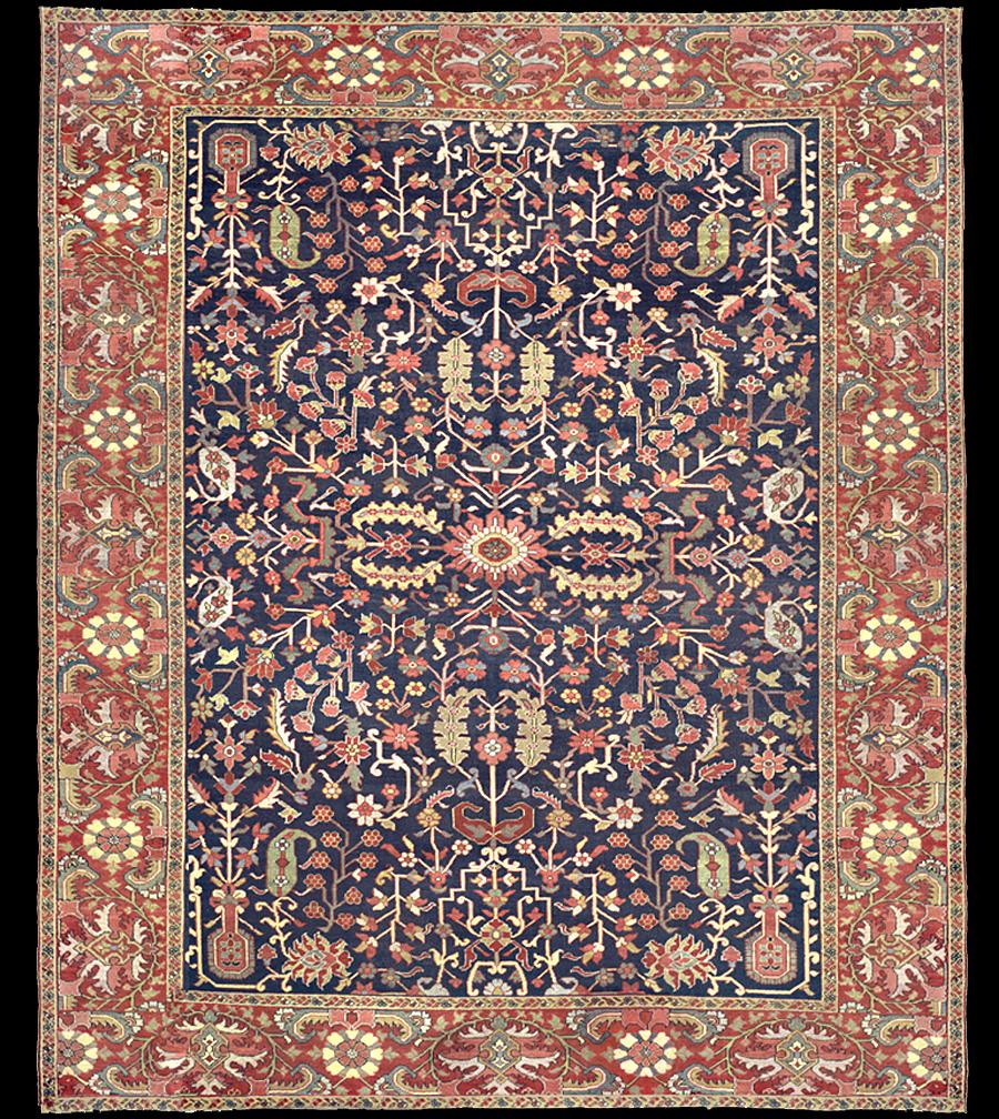 Antique Serapi Rug Azerbaijan Nw Iran 19th Century 9