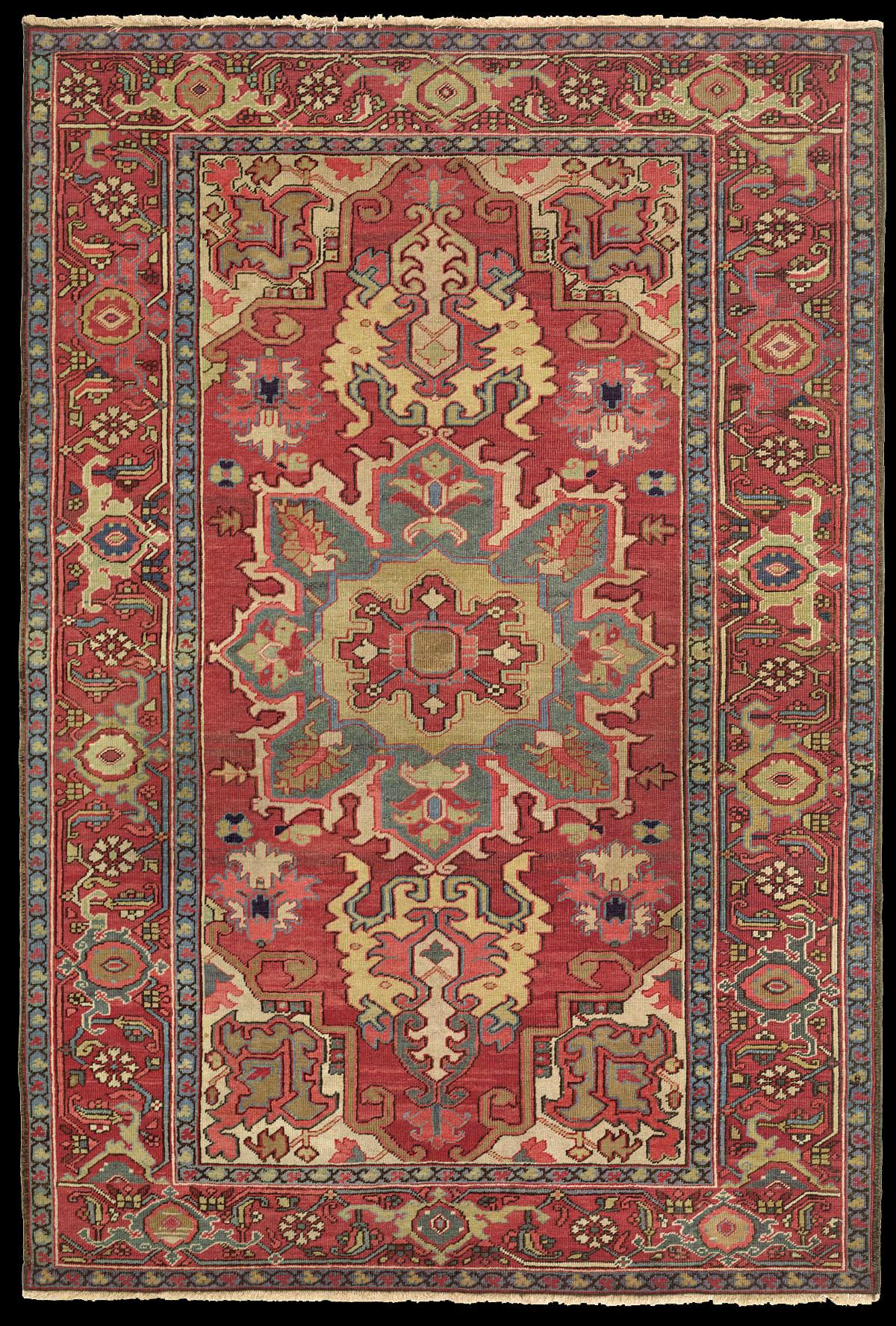 Antique Serapi Rug Azerbaijan Nw Iran 19th Century 4 39 6