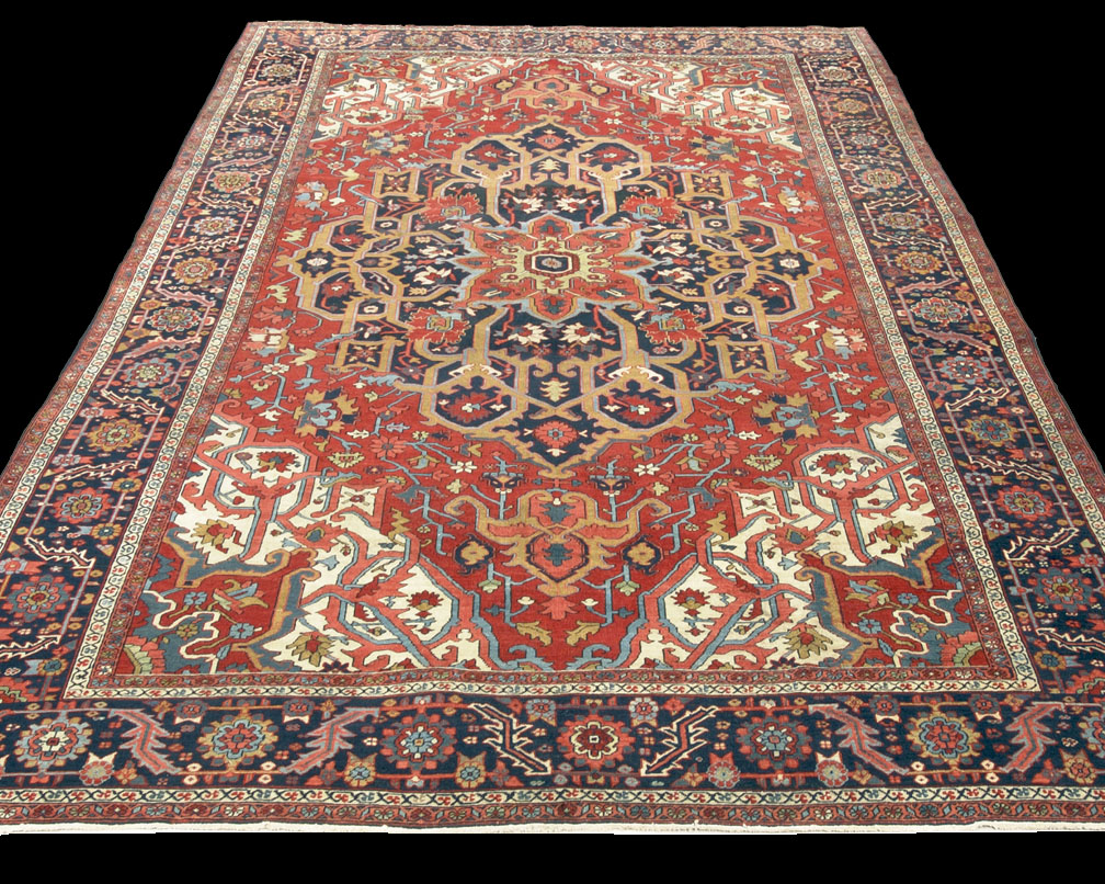 Antique Serapi Rug Azerbaijan Nw Iran 8 39 10 X 12 39 3