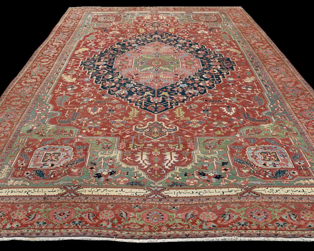 Antique Serapi Rug Azerbaijan Nw Iran 19th Century 11